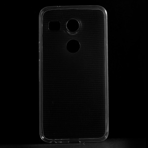 Ultra-thin Soft TPU Phone Case for LG Nexus 5X with Non-slip Inner - Transparent
