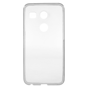 Ultra-thin Soft TPU Phone Cover for LG Nexus 5X with Non-slip Inner - Grey