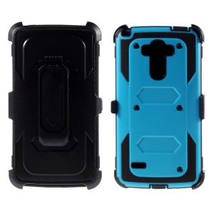 Belt Clip Plastic + TPU Phone Case for LG G Stylo LS770 - Blue