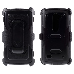 Belt Clip PC + TPU Combo Case for LG Leon H320 / Leon 4G LTE H340N - Black