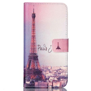 Protective Wallet Leather Shell for LG Nexus 5X - Paris Eiffel Tower