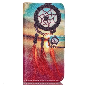 Protective Stand Leather Case for LG Nexus 5X - Sunset Dream Catcher