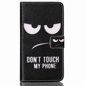 Flip Stand Leather Wallet Case for LG G4 Stylus - Do Not Touch My Phone