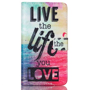 Wallet Stand Leather Phone Cover for LG G4 Stylus - Live the Life You Love