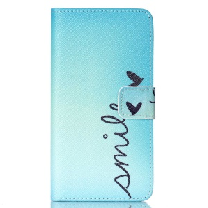 Protective Leather Case for LG Magna H502F H500F / G4c H525N - Smile and Butterfly