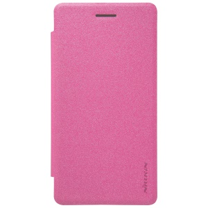 NILLKIN Sparkle Series Leather Phone Case for LG Zero / Class F620 H740 - Rose