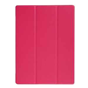 Litchi Grain Tri-fold Leather Stand Tablet Cover for Google Pixel C - Rose