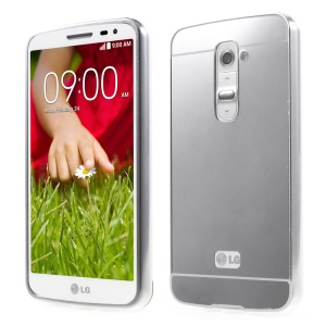 Slide-on Metal Bumper Plastic Cover for LG Optimus G2 D801 D802 - Silver