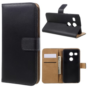 Genuine Split Leather Wallet Stand Case for LG Nexus 5X