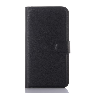 Litchi Texture Stand Wallet Leather Case for LG K7 - Black