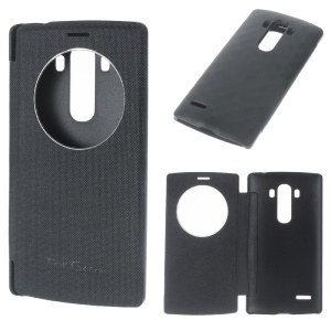 View Windows Leather Flip Cover for LG G4 Beat / G4S H735 - Black
