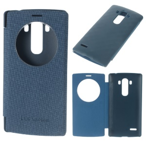 View Windows Leather Protective Cover for LG G4 Beat / G4S H735 - Deep Blue