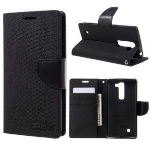 MERCURY GOOSPERY Canvas Leather Stand Case for LG Magna H502F H500F / G4c H525N - Black