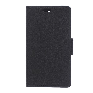 Wallet Leather Stand Case for LG K10 - Black