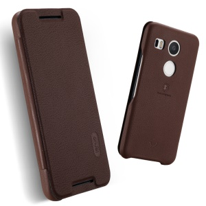 LENUO Ledream Series Protective Leather Case for LG Nexus 5X - Brown
