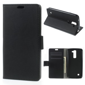 Wallet Leather Stand Case for LG K7 - Black