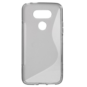 S-curve Line Soft TPU Skin Cover for LG G5 - Grey