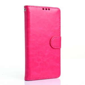 Crazy Horse Wallet Leather Phone Case for LG G5 - Rose