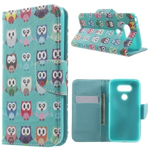 Wallet Leather Stand Case Cover for LG G5 - Multiple Owls