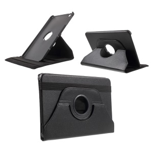 Litchi Rotary Stand Leather Case for LG G Pad II 10.1 V940 - Black