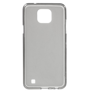 Double-sided Frosted TPU Phone Cover for LG X Cam - Grey