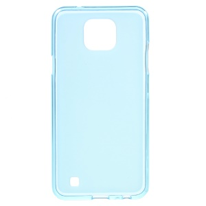 Double-sided Frosted TPU Back Cover Case for LG X Cam - Blue