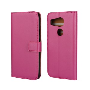 Genuine Split Wallet Leather Stand Case for LG Nexus 5X - Rose