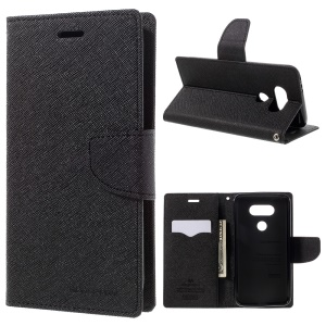 MERCURY GOOSPERY Leather Wallet Cover for LG G5 with Stand - Black