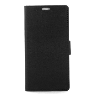 Wallet Leather Stand Case for LG X Cam - Black