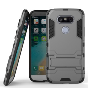 Cool Guard Plastic + TPU Hybrid Shell Cover for LG G5 - Grey