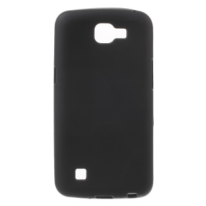 Matte Anti-fingerprint TPU Phone Case for LG K4 - Black