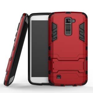 Kickstand PC and TPU Hybrid Shell for LG K10 - Red