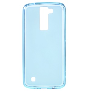Double-sided Matte TPU Case Cover for LG K8 - Blue