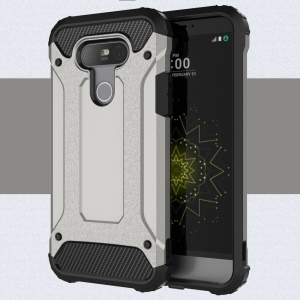 Armor PC + TPU Hybrid Case Cover for LG G5 - Grey
