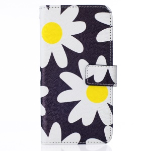 Wallet Leather Stand Case for LG G5 - White Flowers