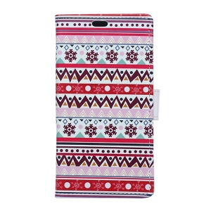 Patterned Leather Flip Case Cover for LG X Cam - Tribal Pattern