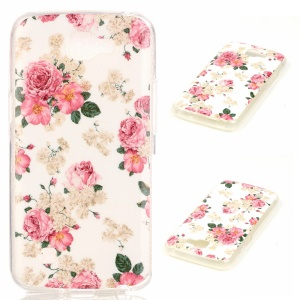 Soft IMD TPU Shell Case for LG K4 - Vivid Flowers