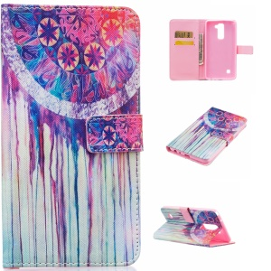 Patterned Leather Wallet Cover for LG Stylus 2/LG G Stylo 2 - Watercolor Dream Catcher
