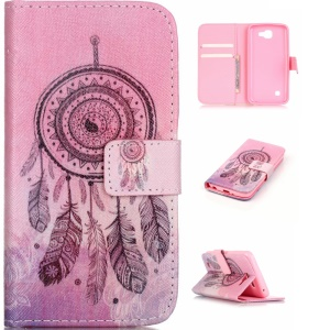 Patterned Leather Wallet Cover for LG K4 - Dream Catcher