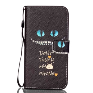Patterned Leather Magnetic Case for LG K8 - Do not Touch My Phone