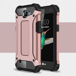 Armor Guard Plastic + TPU Hybrid Case Cover for LG K4 - Pink