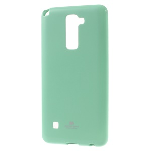 MERCURY GOOSPERY Glitter Powder TPU Phone Case for LG Stylus 2/G Stylo 2 - Cyan