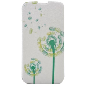 Fragrant Leather Stand Phone Cover for LG K8 - Pretty Dandelion
