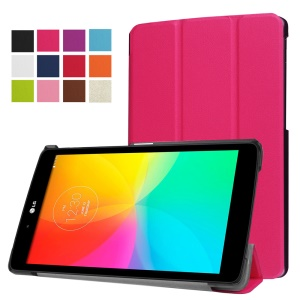 Tri-fold Stand Leather Protective Case for LG G Pad III 8.0 - Rose