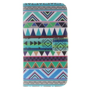 Leather Stand Cover for LG Stylus 2/Stylus 2 Plus - Tribal Triangles