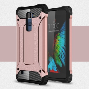Armor Guard Plastic + TPU Hybrid Case Cover for LG K10 - Pink