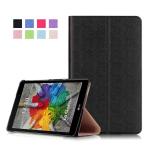 Sand-like Texture Stand Leather Case for LG G Pad III 8.0 - Black