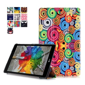Tri-fold Stand Leather Case for LG G Pad 3 8.0 V525 - Various Rolls