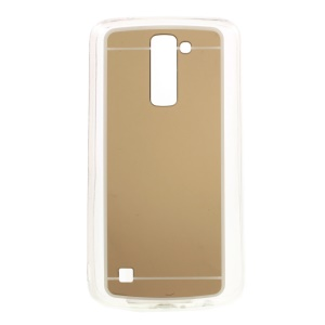 Mirror Effect Acrylic Back + TPU Edges Cover Case for LG K10 - Gold