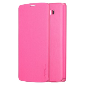 X-LEVEL Slim Leather Phone Shell with Stand for LG V10 H900 H901 VS990 - Rose